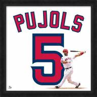 Los Angeles Angels Albert Pujols Uniframe Framed Jersey Photo