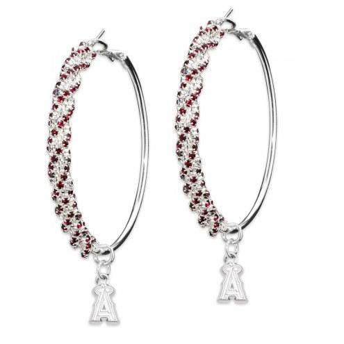 Los Angeles Angels Amped Logo Crystal Earrings
