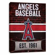 Los Angeles Angels Brickyard Printed Canvas