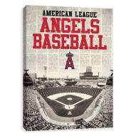 Los Angeles Angels Newspaper Stadium Printed Canvas