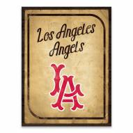 Los Angeles Angels Vintage Card Printed Canvas