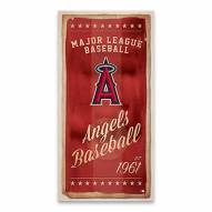 Los Angeles Angels Watercolor Printed Canvas