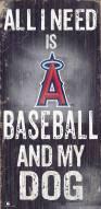 Los Angeles Angels Baseball & My Dog Sign