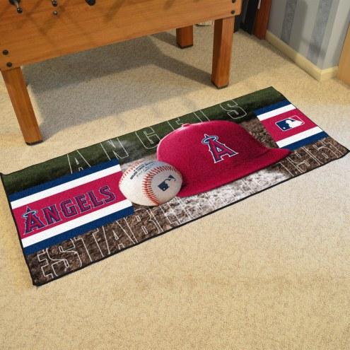 Los Angeles Angels Baseball Runner Rug