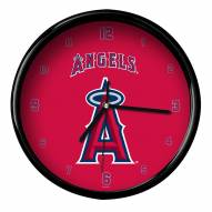 Los Angeles Angels Black Rim Clock