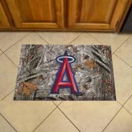 Los Angeles Angels Camo Scraper Door Mat