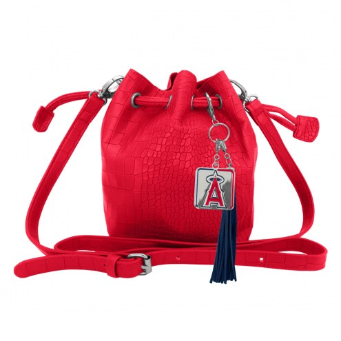 Los Angeles Angels Charming Mini Bucket Bag