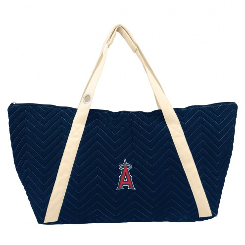 Los Angeles Angels Chevron Stitch Weekender Bag