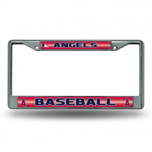 Los Angeles Angels Chrome Glitter License Plate Frame