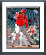 Los Angeles Angels C.J. Wilson Action Framed Photo