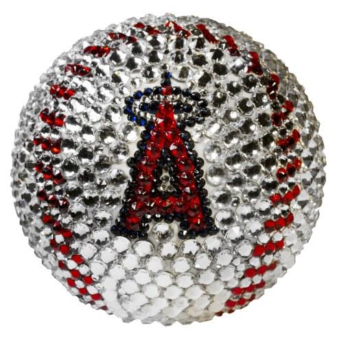 Los Angeles Angels Swarovski Crystal Baseball