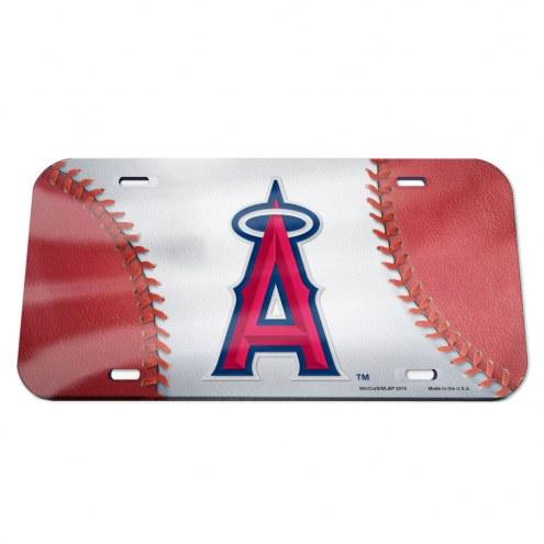 Los Angeles Angels Crystal Mirror License Plate