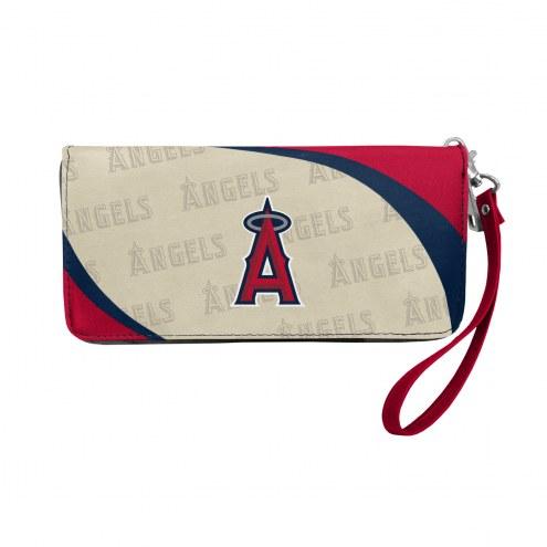 Los Angeles Angels Curve Zip Organizer Wallet