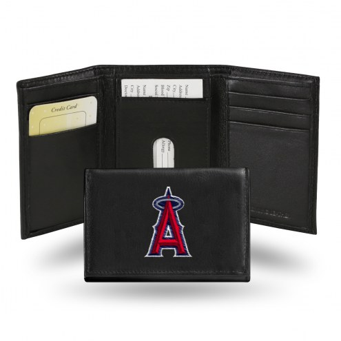 Los Angeles Angels Embroidered Leather Tri-Fold Wallet