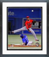 Los Angeles Angels Erick Aybar Action Framed Photo