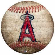 Los Angeles Angels Baseball Shaped Sign