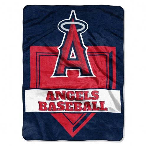 Los Angeles Angels Home Plate Plush Raschel Blanket