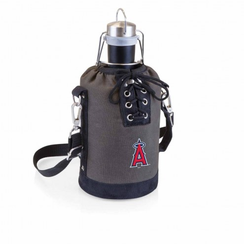 Los Angeles Angels Insulated Growler Tote with 64 oz. Stainless Steel Growler