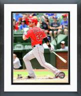 Los Angeles Angels Josh Hamilton Action Framed Photo
