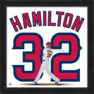 Los Angeles Angels Josh Hamilton Uniframe Framed Jersey Photo