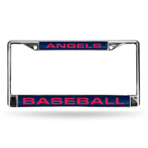 Los Angeles Angels Laser Rico Chrome License Plate Frame