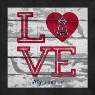 Los Angeles Angels Love My Team Square Wall Decor