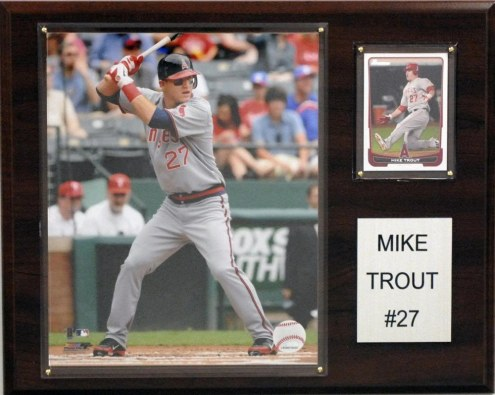 """Los Angeles Angels Mike Trout 12"""" x 15"""" Player Plaque"""