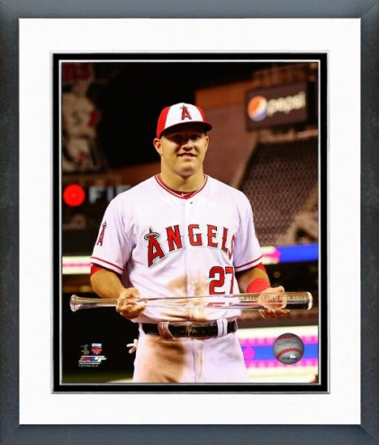 Los Angeles Angels Mike Trout 2014 All-Star Game MVP Trophy Framed Photo