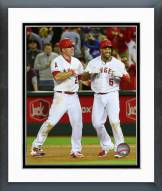 Los Angeles Angels Mike Trout & Albert Pujols Action Framed Photo