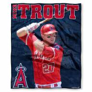 Los Angeles Angels Mike Trout Silk Touch Blanket
