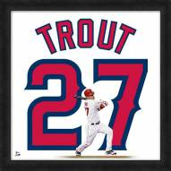 Los Angeles Angels Mike Trout Uniframe Framed Jersey Photo