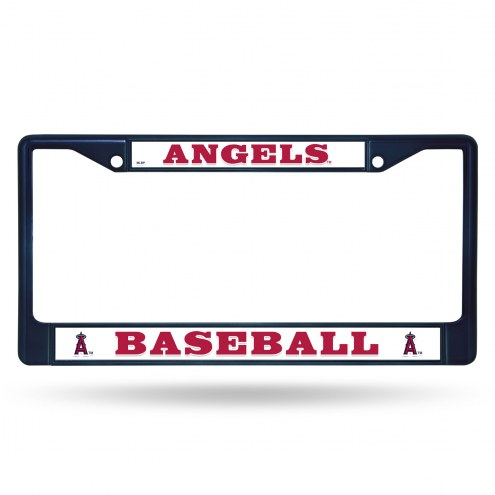 Los Angeles Angels Navy Colored Chrome License Plate Frame