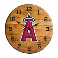 Los Angeles Angels Oak Barrel Clock