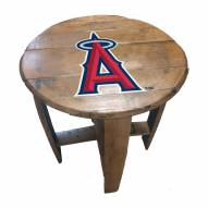 Los Angeles Angels Oak Barrel Table