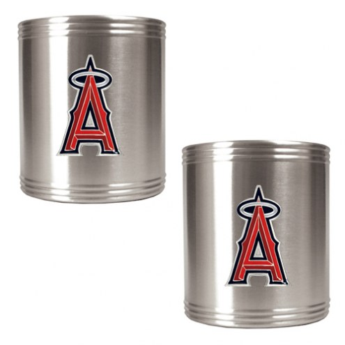Los Angeles Angels of Anaheim MLB Stainless Steel Can Holder 2-Piece Set