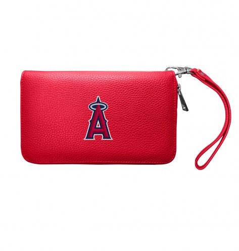 Los Angeles Angels Pebble Organizer Wallet