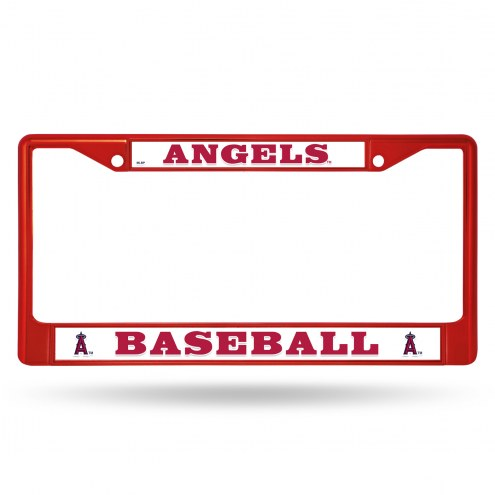Los Angeles Angels Red Colored Chrome License Plate Frame