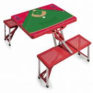Los Angeles Angels Red Folding Picnic Table