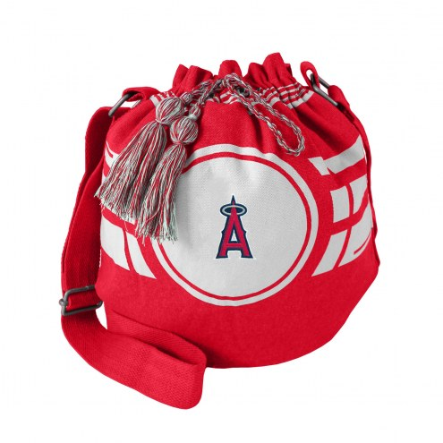 Los Angeles Angels Ripple Drawstring Bucket Bag