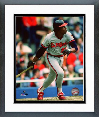 Los Angeles Angels Rod Carew 1982 Action Framed Photo