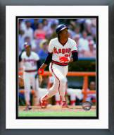 Los Angeles Angels Rod Carew 1985 Action Framed Photo
