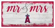 Los Angeles Angels Script Mr. & Mrs. Sign