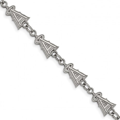 Los Angeles Angels Stainless Steel Logo Bracelet