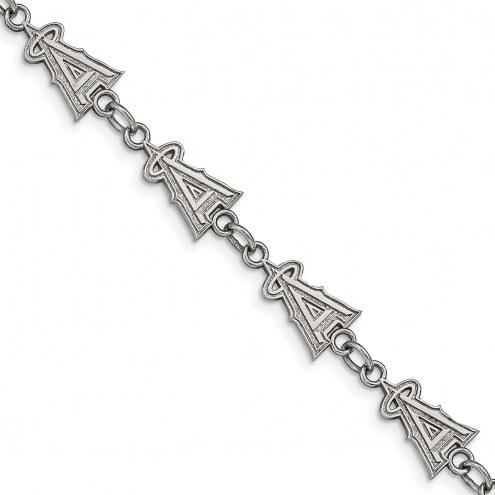Los Angeles Angels Stainless Steel Logo Bracelet
