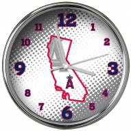Los Angeles Angels State of Mind Chrome Clock