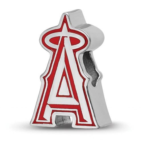 Los Angeles Angels Sterling Silver Enameled Bead