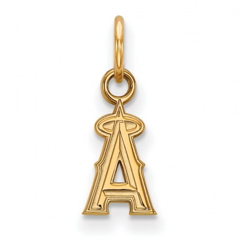 Los Angeles Angels Sterling Silver Gold Plated Extra Small Pendant