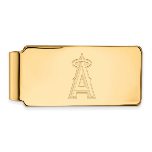 Los Angeles Angels Sterling Silver Gold Plated Money Clip