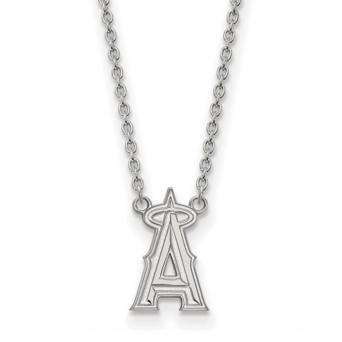 Los Angeles Angels Sterling Silver Large Pendant Necklace