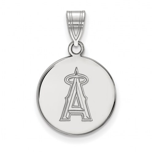 Los Angeles Angels Sterling Silver Medium Disc Pendant